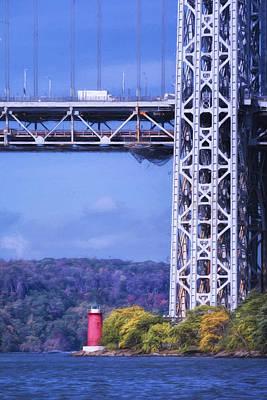 Hudson Photograph - Little Red Lighthouse by Joan Carroll
