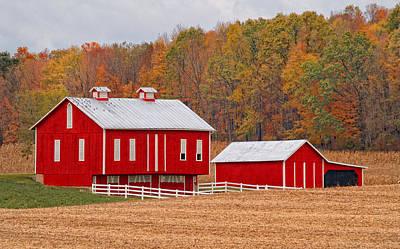 Pennsylvania Dutch Photograph - Little Red  Pennsylvania Dutch Barn by Brian Mollenkopf