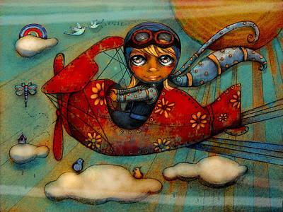 Little Red Plane Art Print by Karin Taylor