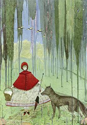 Riding Hood Photograph - Little Red Riding Hood, Artwork by British Library