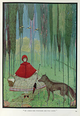 Little Red Riding Hood Photograph - Little Red Riding Hood by British Library