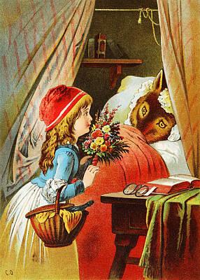 Nursery Rhyme Digital Art - Little Red Riding Hood by Carl Offterdinger