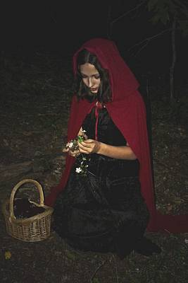 Photograph - Little Red Riding Hood by Cherie Haines