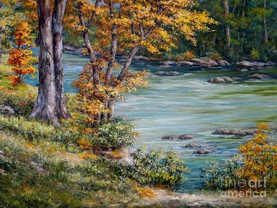 Arkansas Painting - Little Red River by Virginia Potter