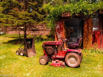 Shed Digital Art - Little Red by Rod Pena
