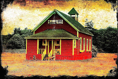 Little Red School House Photograph - Little Red School House 2 by Richard J Cassato