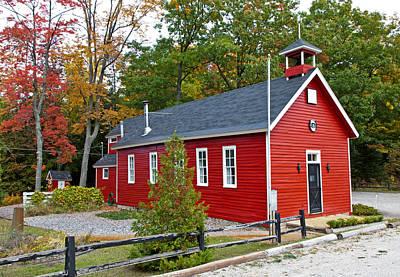 Little Red School House Photograph - Little Red School House In Leelanau County by Craig Sterken