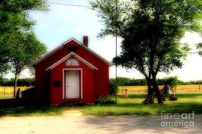 Little Red School House Art Print by Kathleen Struckle