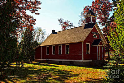 Little Red School House Photograph - Little Red School House by Ms Judi