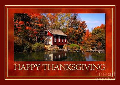 Digital Art - Little Red Thanksgiving by JH Designs