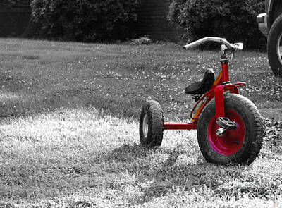 Photograph - Little Red Trike by Jai Johnson