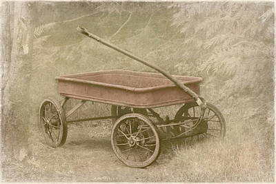 Photograph - Little Red Wagon by Angie Vogel