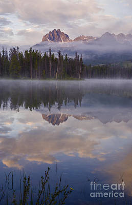 Sawtooth Mountain Art Photograph - Little Redfish Lake Sunrise  by Vishwanath Bhat