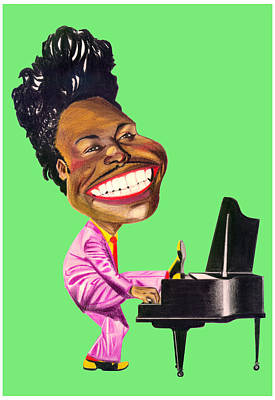 Caricature Drawing - Little Richard by Diego Abelenda