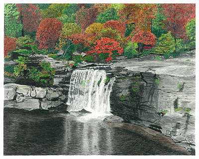 Grand Canyon Mixed Media - Little River Falls by Cloud Farrow