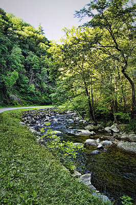 Babbling Photograph - Little River Road by Cricket Hackmann