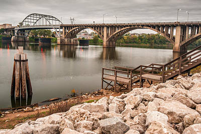 Photograph - Little Rock Arkansas River Bridge by Gregory Ballos