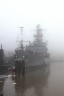 Photograph - Little Rock In Fog by Guy Whiteley