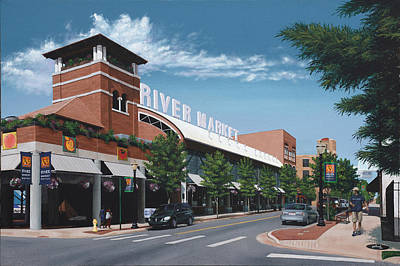 Little Rock River Market Art Print