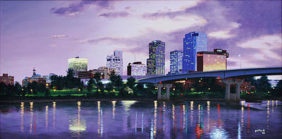 Little Rock Skyline Art Print