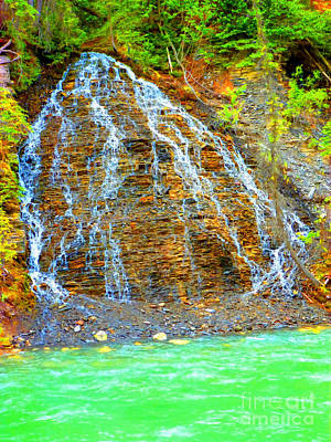 Little Rock Waterfall Art Print by John Kreiter