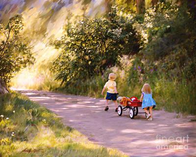 Little Run Aways Art Print