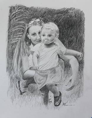 Drawing - Little Runaway by Daniel Reed