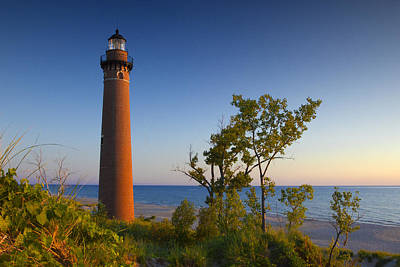Photograph - Little Sable Lighthouse Near Sunset by Randall Nyhof