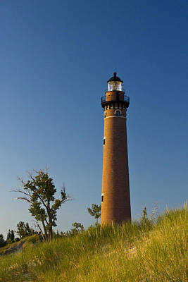 Photograph - Little Sable Lighthouse On The Dune By Silver Lake Michigan No.560 by Randall Nyhof