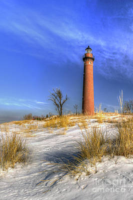 Little Sable Lighthouse Winter Art Print by Twenty Two North Photography
