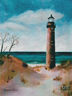Painting - Little Sable Point Light by Brenda Thour