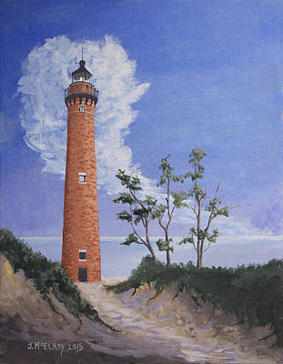 Little Sable Point Lighthouse Original by Jerry McElroy