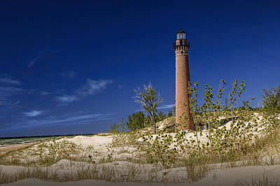 Photograph - Little Sable Point Light No.0285 by Randall Nyhof