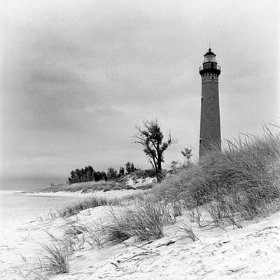 Little Sable Point Lighthouse Art Print by Jeff Burton