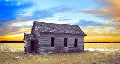 Photograph - Little School On The Prairie by Bonfire Photography