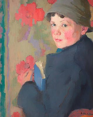 Book Jacket Painting - Little Schoolboy Of Bonmahon by Mountain Dreams
