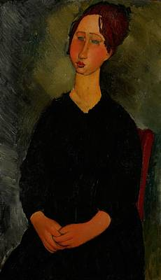 Little Servant Girl Art Print by Amedeo Modigliani