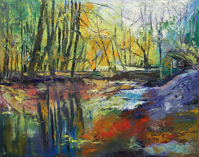 Impasto Oil Painting - Little Sewickley Creek by Michael Creese