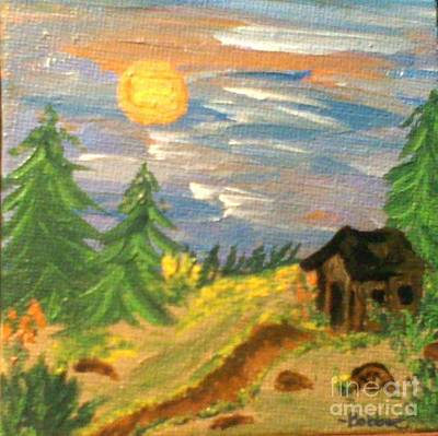 Painting - Little Shack by Bobbee Rickard