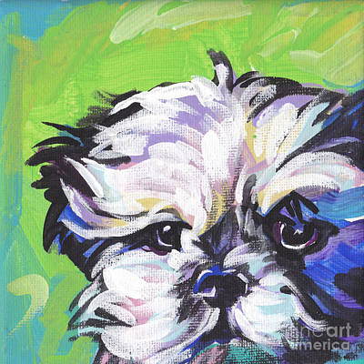 Shih Tzu Painting - Little Shitz by Lea S