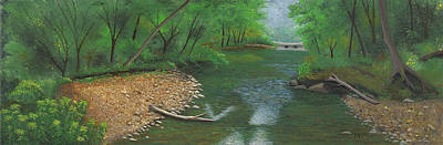 Painting - Little Shoal Creek by Garry McMichael