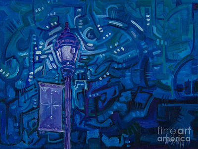 Painting - Little Silver Night Light by Michael Ciccotello