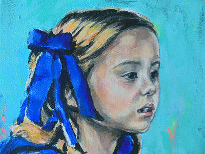 Nederland Painting - Little Singing Princess Ariane by Lucia Hoogervorst