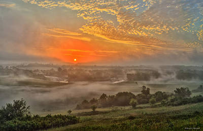 Photograph - Little Sioux River Valley Sunrise by Bruce Morrison