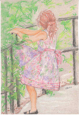 Little Sister Art Print by Kathy Keith