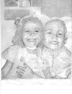 Little Sister Art Print by Rebecca Christine Cardenas
