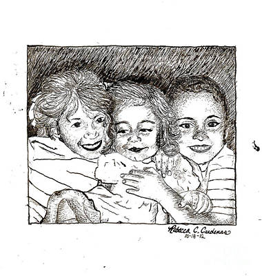Drawing - Little Sisters by Rebecca Christine Cardenas
