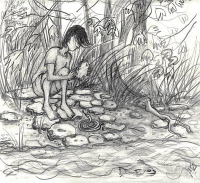 Little Snake Manipulated Art Print by Leandria Goodman