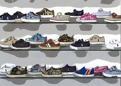 Little Sneakers Art Print