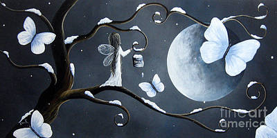 Night Angel Painting - Little Snow Fairy By Shawna Erback by Shawna Erback